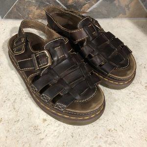Dr Marten Vintage Brown Fisherman Sandals Size 41